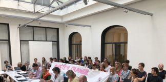 HU-Präsidentin Kunst und die Studierenden der Fridays-For-Future-HU-Gruppe