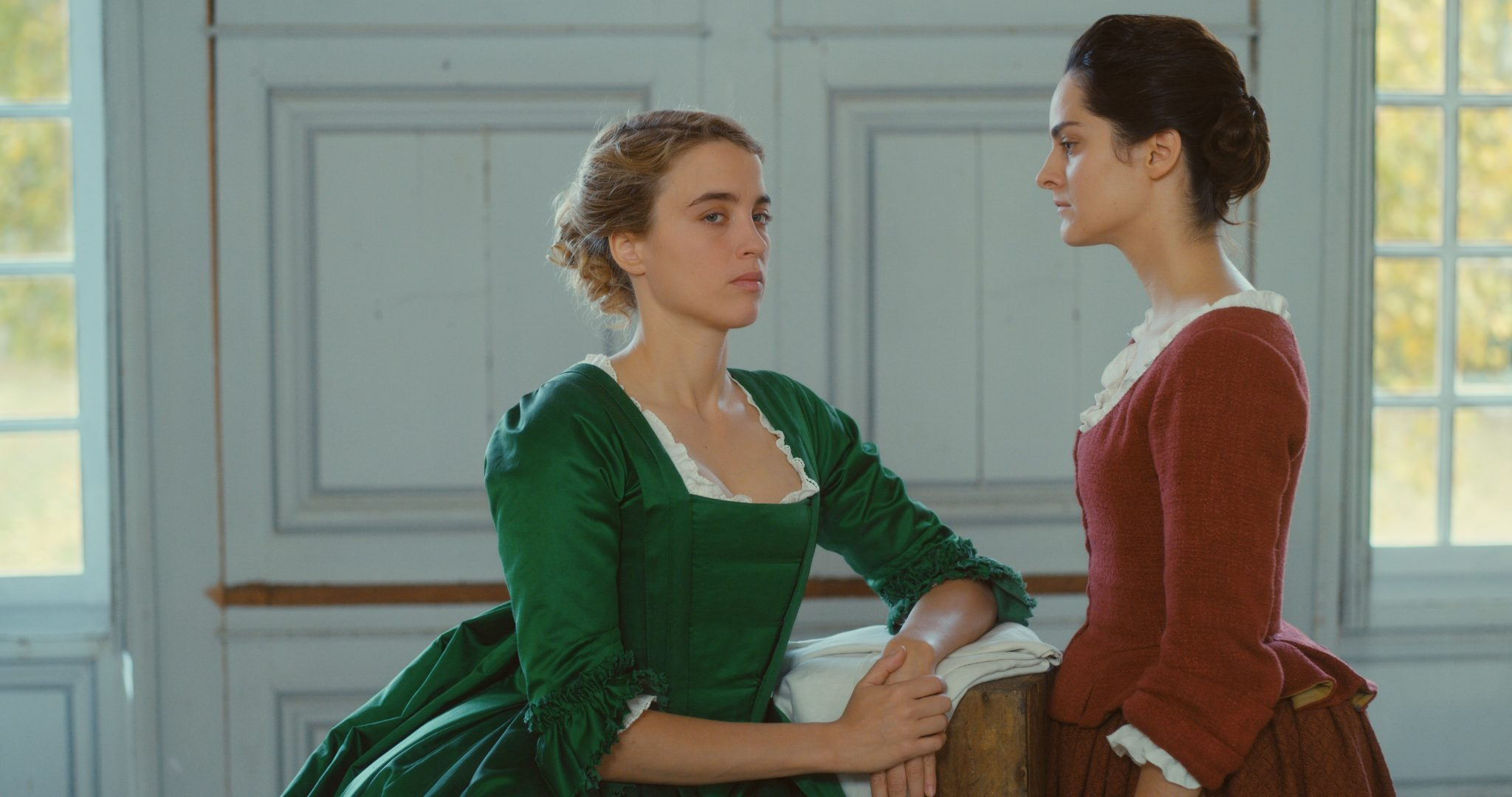 Héloïse und Marianne: Selbst in einem Film der fast ohne Männer auskommt, bleiben sie ein Verhängnis. Foto: Alamodefilm