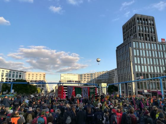 Extinction Rebellion Blockade am Potsdamer Platz. Foto: Cosima Kopp