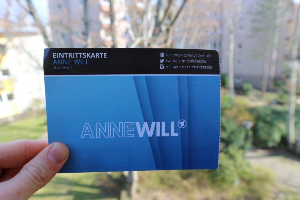 Eintrittskarte für Anne Will