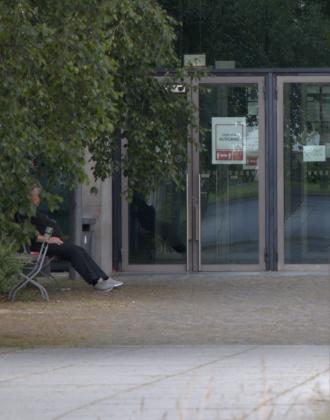 Nur das Wachpersonal dreht seine Runden durchs Gebäude. Foto: Frederike Ruge