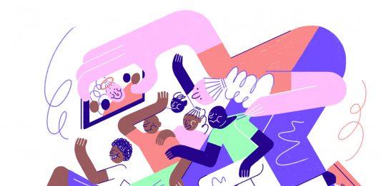 Immer mehr freiwillige Helfer*innen reisen in Länder des Globalen Südens. Illustration: Hannah Schrage