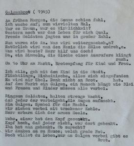Gedicht von Annas Uropa