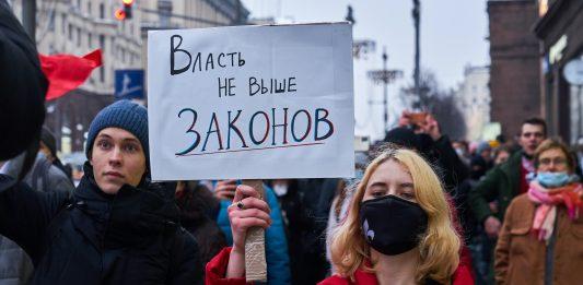 Protest Moskau 23.01.2021