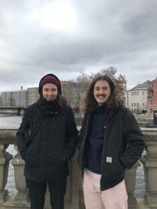 Isabel und Jann von der Fachschaftsinitiative Kulturwissenschaft. Foto: Jacqueline Kamp